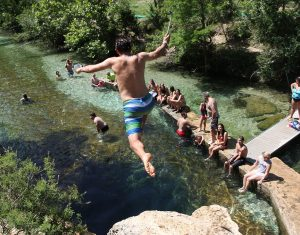 at Jacob's Well in Wimberley, Texas during the ATPI Summer Workshop. Photo by Jennifer Nance